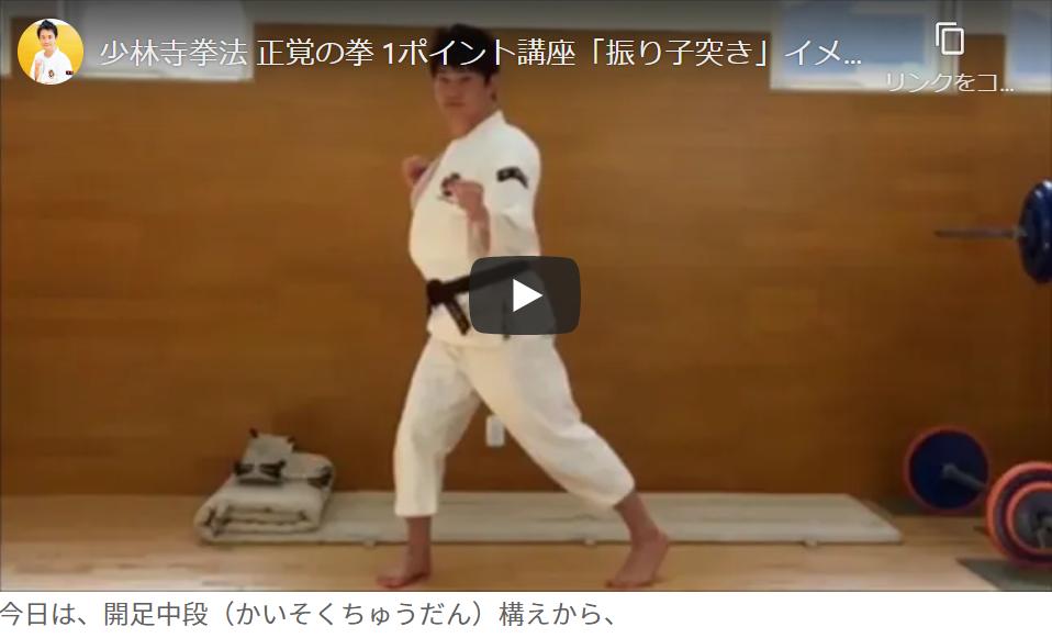 上段の「振子突き」 /正覚の拳 【1ポイント講座 】